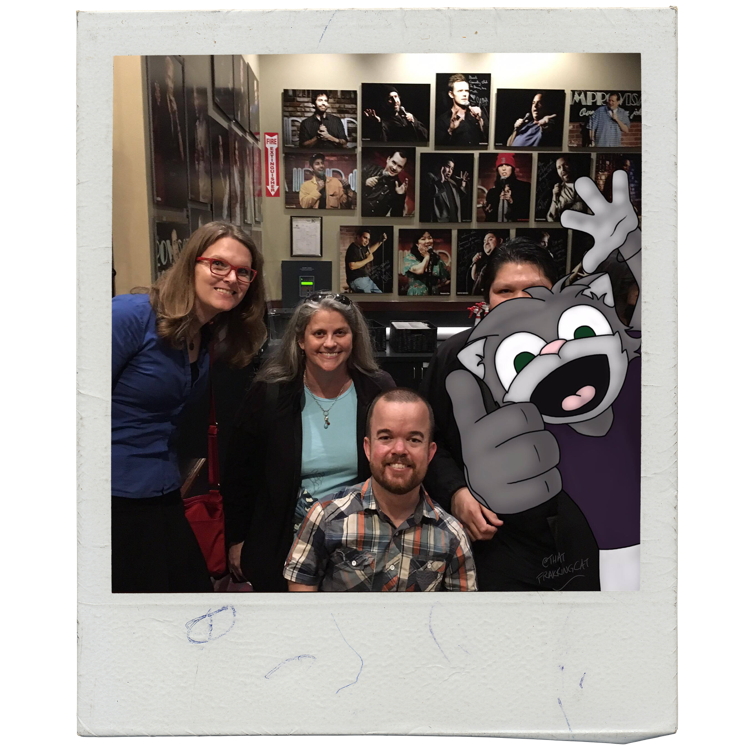 The Knights, Marianne, Dave, and Brad Williams at Brea Improv.